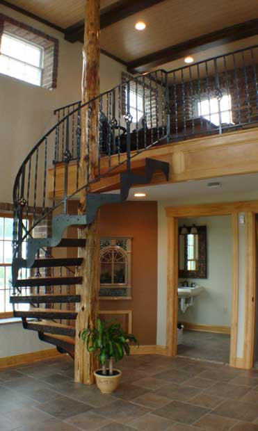 Hand Crafted Solid Cedar and Cherry Spiral Stairs: Boutorabi