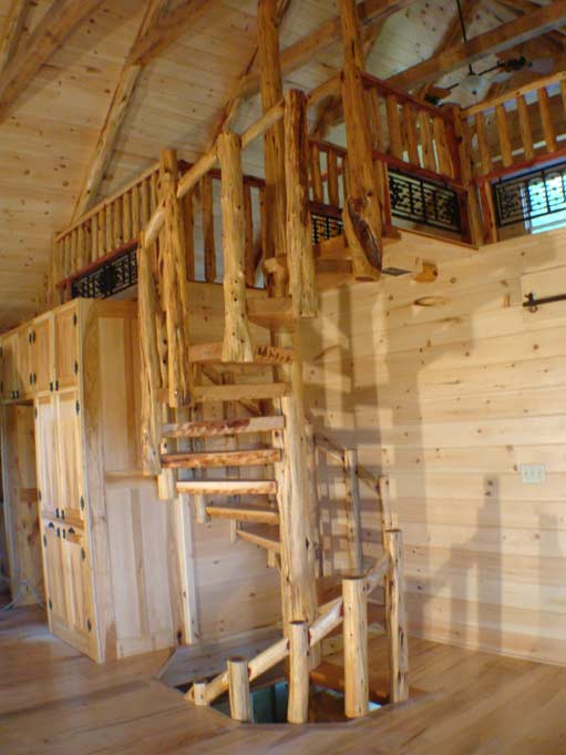 Cherry and Cedar Spiral Stairs 1
