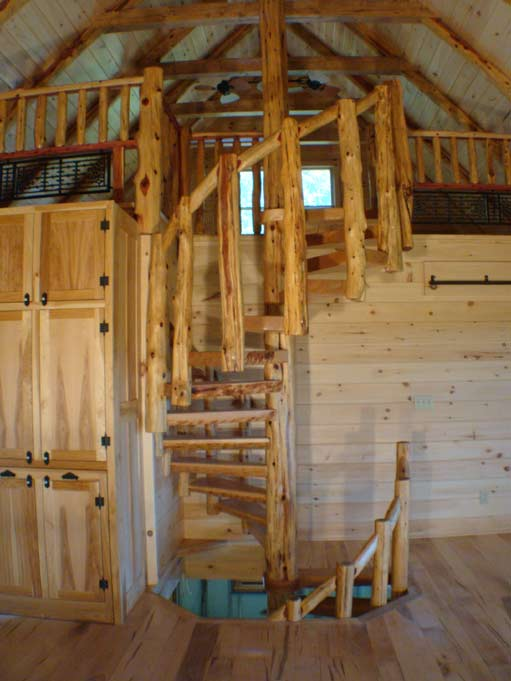 Cherry and Cedar Spiral Stairs 2