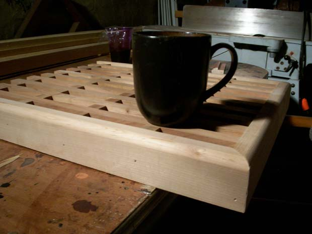 Hand Crafted Solid Cherry Lattice Countertop