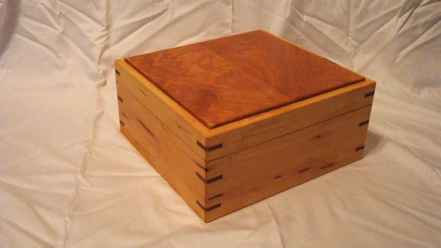 Cherry Heart Box Handcrafted Solid Wood