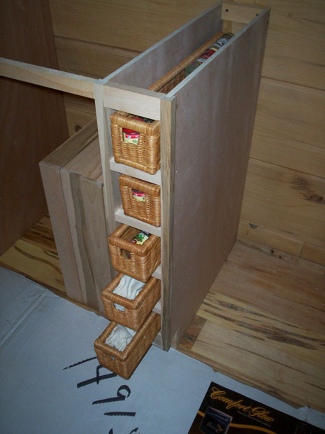 Hand Crafted Soild Wood Kitchen Cabinet Spice Rack Cowell