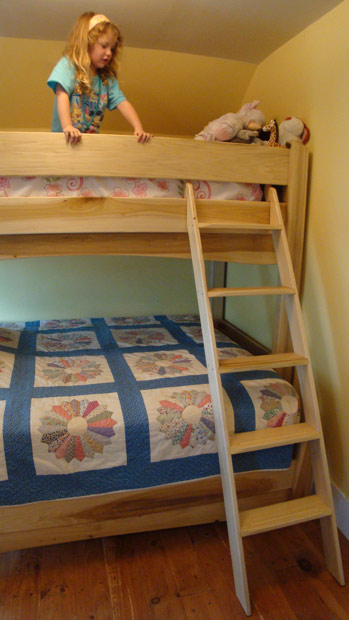 Hand Crafted Solid Poplar Bunk Bed/Loft: Group