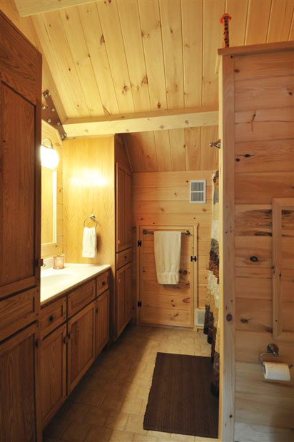 Hand Crafted Solid Oak Bathroom Vanities and Cabinets: Grove