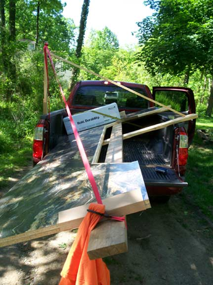 ReedBuild Hauling Countertop to a Job