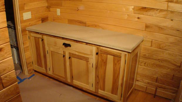 Marvelous Hand Crafted Solid Hickory Bathroom Vanity Cabinets: Herschboeck