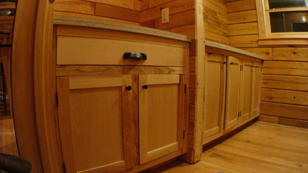 Hand Crafted Solid Hickory Bathroom Vanity Cabinets: Herschboeck