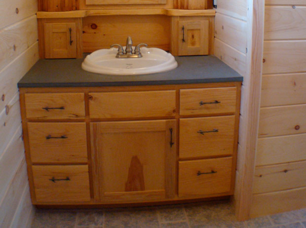 Hand Crafted Solid Hemlock Bathroom Vanity: Izzo