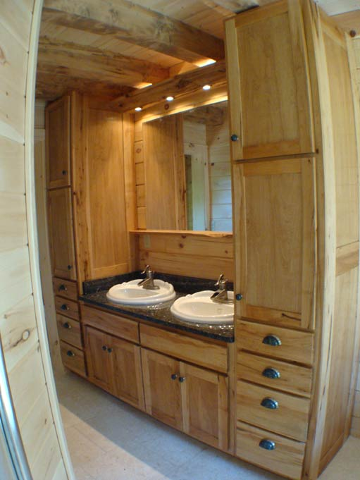 Hand Crafted Solid Maple Bathroom Vanity Cabinets Izzo