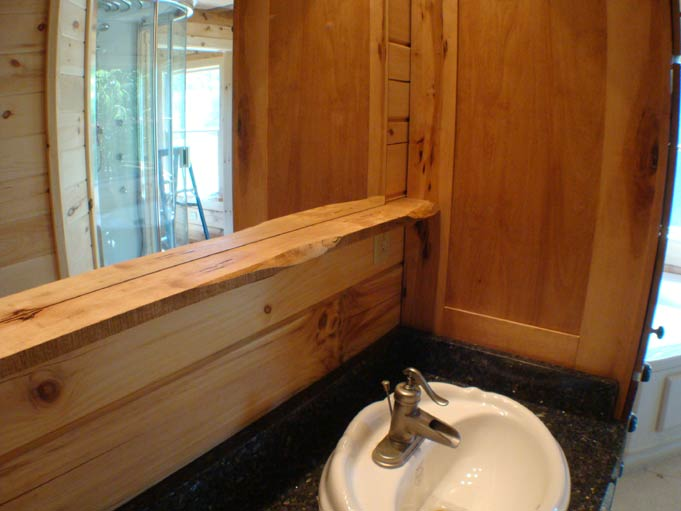 Handcrafted Soild Wood Maple Bathroom Cabinets/Vanity: Mirror Shelf