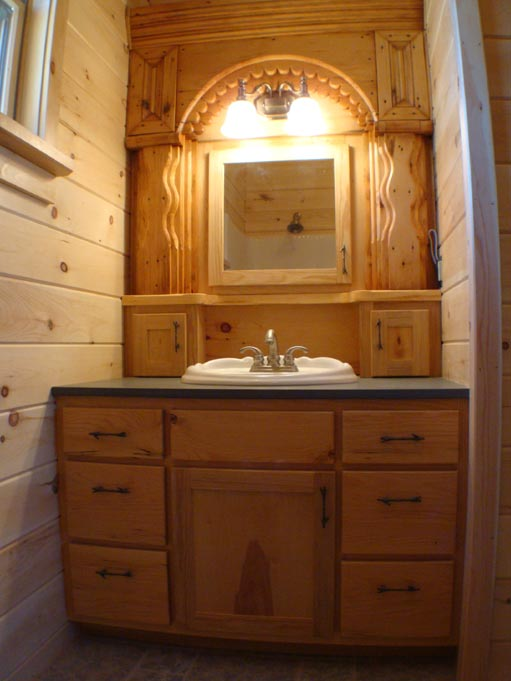 Hand Crafted Solid Hemlock Bathroom Vanity Cabinets: Izzo