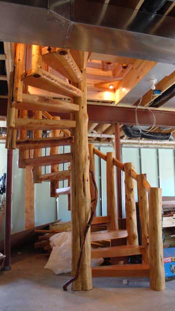 Great John Meilahn S Cordwood Home Spiral Staircase Amazing