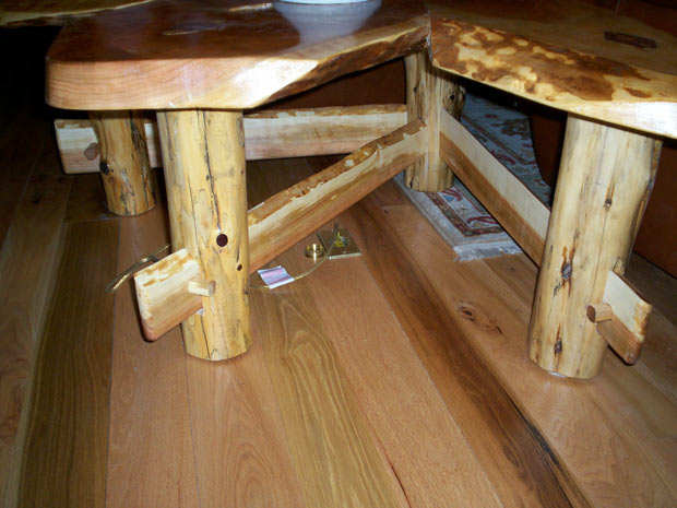 Hand Crafted Solid Cherry Slab Fan Style End Table: Jacob