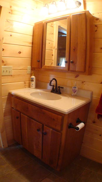 Hand Crafted Solid Cherry Bathroom Vanity Cabinets: Loser