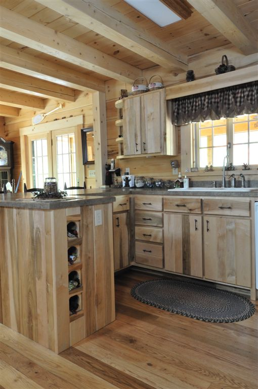 Hand Crafted Solid Maple Kitchen Cabinets: Baumann
