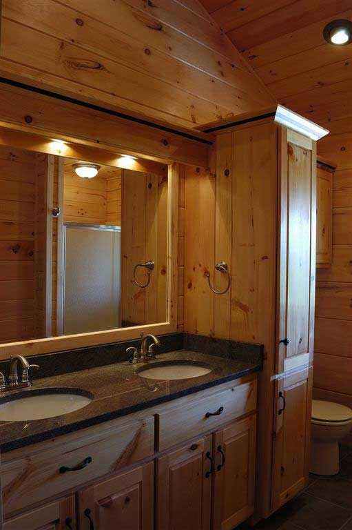 Hand Crafted Solid Pine Bathroom Vanity Cabinets: Mitrick