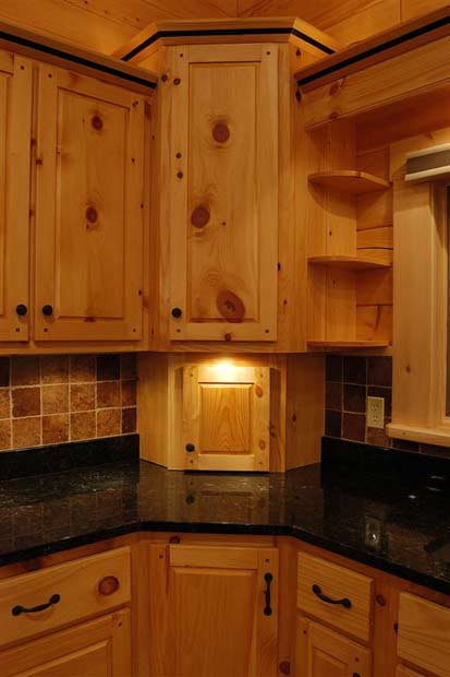Solid Wood Pine Kitchen Cabinets Appliance Garage