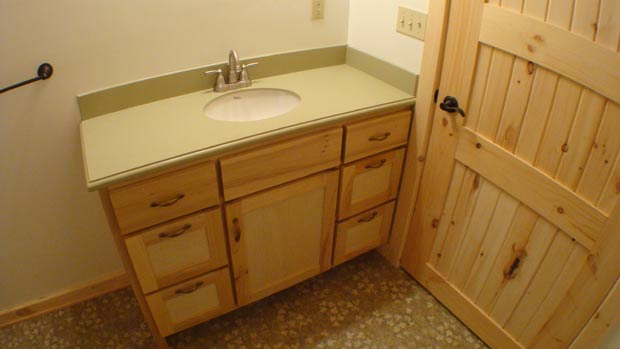 Hand Crafted Solid Poplar Bathroom Vanity Cabinets: Clement