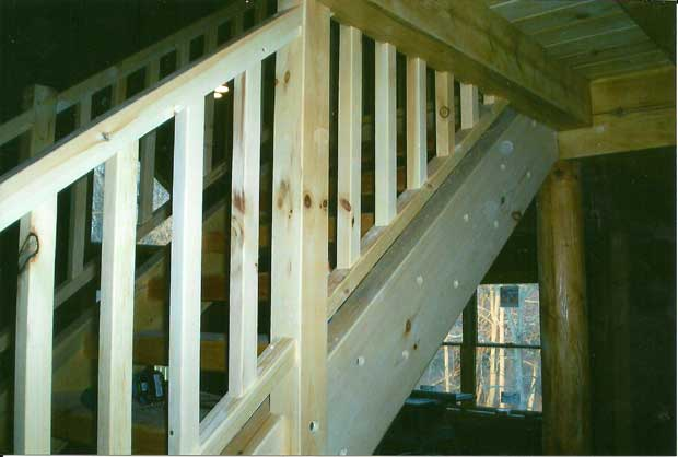 Hand Crafted Solid Pine Straight Staircase: Radar