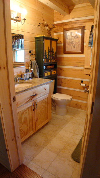 Hand Crafted Solid Pine Bathroom Vanity: Shank