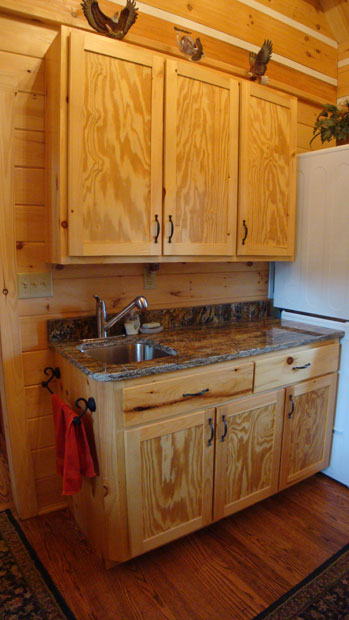 Hand Crafted Solid Pine Laundry Room Cabinets: Shank