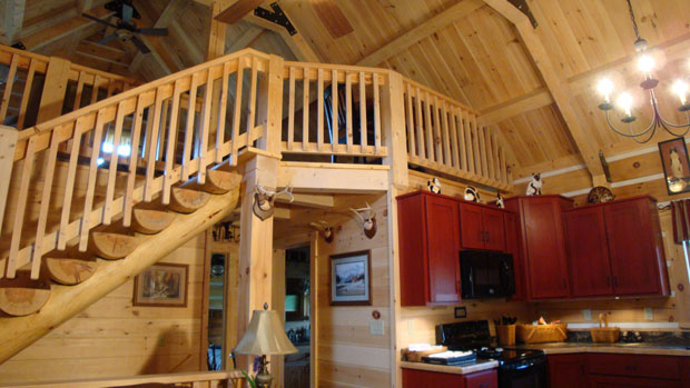 Hand Crafted Solid Spruce and Pine Straight Staircase: Shank