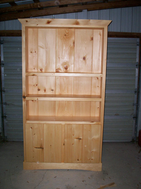 Hand Crafted Solid Pine Hutch: Volk